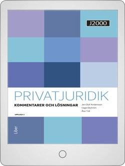 J2000 Privatjuridik Kommentarer och lösningar Digitalbok Grupplicens 12 mån
