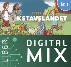 Livet i Bokstavslandet åk 1 Digital Mix Lärare 12 mån