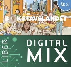 Livet i Bokstavslandet åk 2 Digital Mix Elev 12 mån