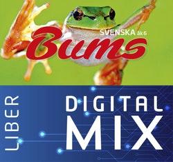 Bums åk 6 Mix Klasspaket (Tryckt och Digitalt) 12 mån