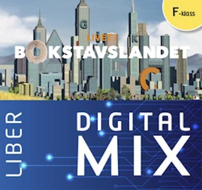 Livet i Bokstavslandet Förskoleklass Mix Klasspaket (Tryckt och Digitalt) 12 mån