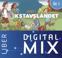Livet i Bokstavslandet åk 1 Mix Klasspaket (Tryckt och Digitalt) 12 mån