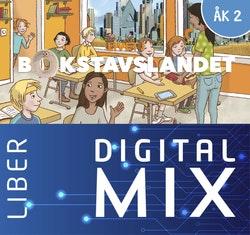 Livet i Bokstavslandet åk 2 Mix Klasspaket (Tryckt och Digitalt) 12 mån