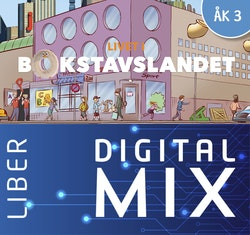 Livet i Bokstavslandet åk 3 Mix Klasspaket (Tryckt och Digitalt) 12 mån