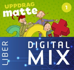 Uppdrag Matte 1A+B Mix Klasspaket (Tryckt och Digitalt) 12 mån