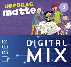 Uppdrag Matte 3A+B Mix Klasspaket (Tryckt och Digitalt) 12 mån