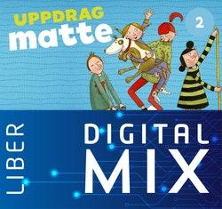 Uppdrag Matte 2A+B Mix Klasspaket (Tryckt och Digitalt) 12 mån