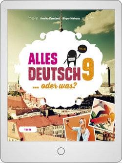 Alles Deutsch 9 Digitalt Övningsmaterial (elevlicens) 12 mån