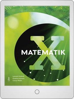 Matematik X Digitalt Övningsmaterial (elevlicens) 12 mån