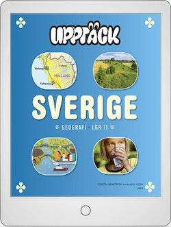 Upptäck Sverige Geografi Digitalt Övningsmaterial (elevlicens) 12 mån