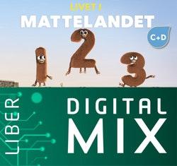 Matematik Livet i Mattelandet C+D Digital Mix Lärare 12 mån