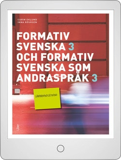 Formativ svenska och svenska som andraspråk 3 Lärarhandledning (nedladdningsbar) 12 mån