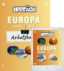 Upptäck Europa Geografi Arbetsbok med Digitalt Övningsmaterial