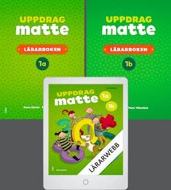 Uppdrag Matte 1 Lärarböcker med Lärarwebb