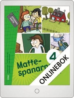 Mattespanarna 4A Grundbok Onlinebok Grupplicens 12 mån