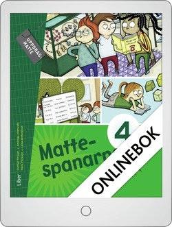 Mattespanarna 4B Grundbok Onlinebok Grupplicens 12 mån