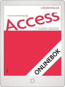 Access Företagsekonomi 2, Lösningar Onlinebok Grupplicens 12 mån