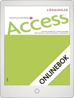 Access Företagsekonomi 1, Lösningar Onlinebok Grupplicens 12 mån