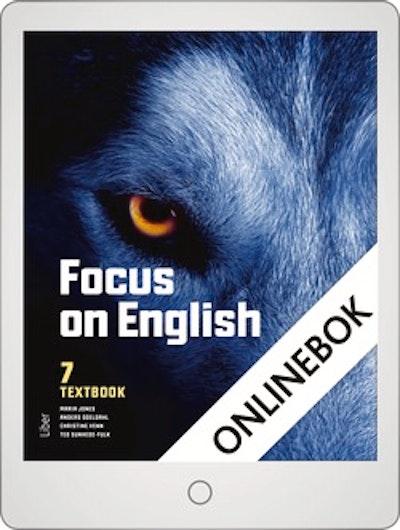 Focus on English 7 Textbook Onlinebok Grupplicens 12 mån