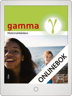 Matematikboken Gamma Grundbok Onlinebok Grupplicens 12 mån