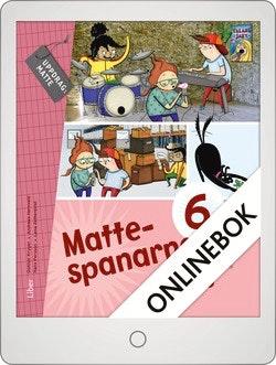 Mattespanarna 6A Grundbok Onlinebok Grupplicens 12 mån