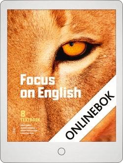Focus on English 8 Textbook Onlinebok Grupplicens 12 mån