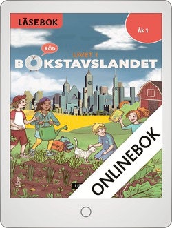 Livet i Bokstavslandet Läsebok åk 1 nivå röd Onlinebok Grupplicens 12 mån