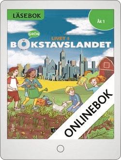 Livet i Bokstavslandet Läsebok åk 1 nivå grön Onlinebok Grupplicens 12 mån