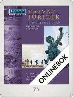 J2000 Privatjuridik och rättskunskap Kommentarer och lösningar Onlinebok Grupplicens 12 mån