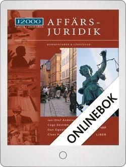 J2000 Affärsjuridik, Kommentarer och lösningar Onlinebok Grupplicens 12 mån