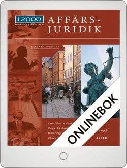 J2000 Affärsjuridik Fakta & uppgifter Onlinebok Grupplicens 12 mån