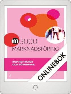 M3000 Marknadsföring Kommentarer och lösningar Onlinebok Grupplicens 12 mån