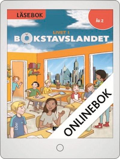 Livet i Bokstavslandet Läsebok åk 2 nivå röd Onlinebok Grupplicens 12 mån