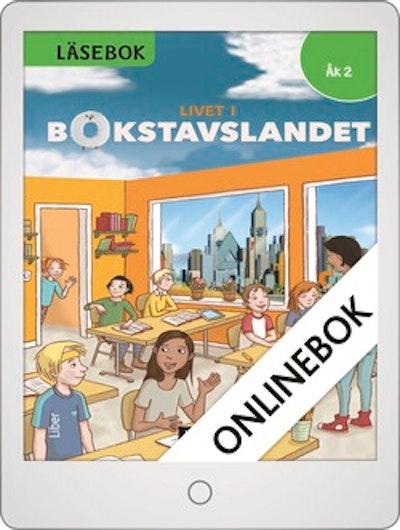 Livet i Bokstavslandet Läsebok åk 2 nivå grön Onlinebok Grupplicens 12 mån