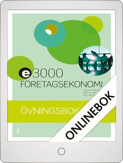 E3000 Företagsekonomi 2 Övningsbok Onlinebok Grupplicens 12 mån