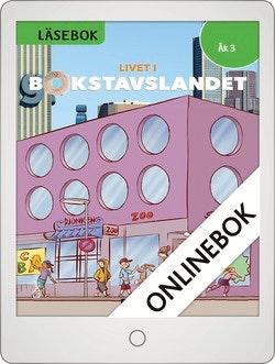Livet i Bokstavslandet Läsebok åk 3 nivå grön Onlinebok Grupplicens 12 mån