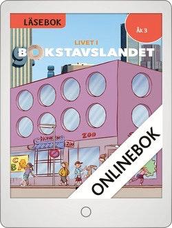 Livet i Bokstavslandet Läsebok åk 3 nivå röd Onlinebok Grupplicens 12 mån