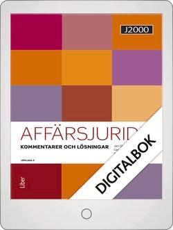J2000 Affärsjuridik Kommentarer och lösningar Digitalbok Grupplicens 12 mån