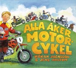 Alla åker motorcykel