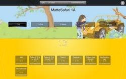 Matte Direkt Safari 1 för interaktiv skrivtavla/projektor (skollicens) 1 år
