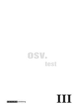 osv. III Test i Svenska åk 9 10-pack