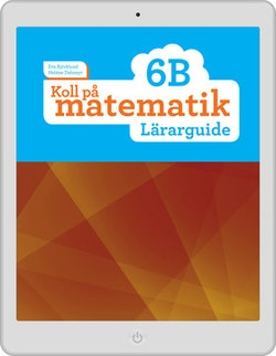 Koll på matematik 6B digital (lärarlicens)