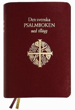 Den svenska psalmboken med tillägg (presentpsalmbok, guldsnitt)