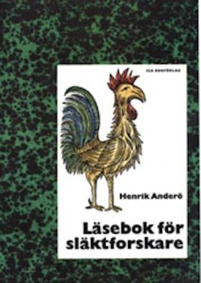 """""""Läsebok för släktforskare"""" av Henrik Anderö."""