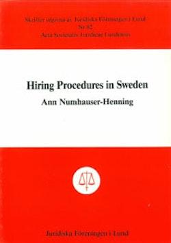 Hiring Procedures in Sweden