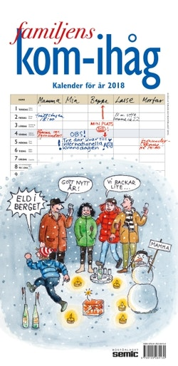 Familjens kom-ihåg-kalender 2018