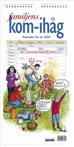 Familjens kom-ihåg-kalender 2020