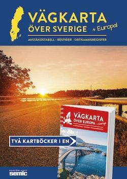 Vägkarta över Sverige och Europa