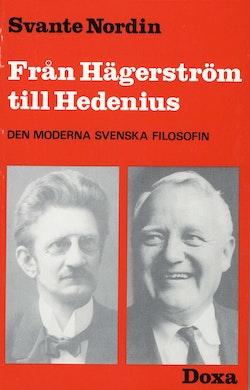 Från Hägerström till Hedenius