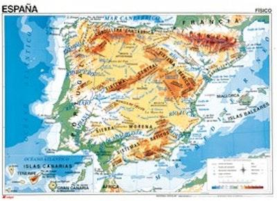 Karta Pa Spansk.Karta Over Spanien